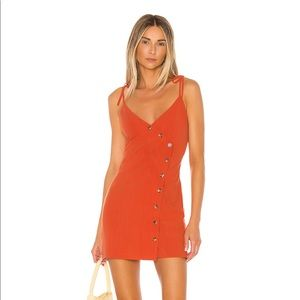 NWT Revolve Mini Dress in Red Orange